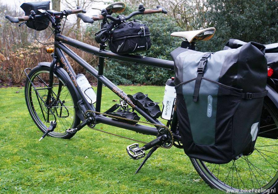 Santos tandem Double Travel met Ortlieb XL tassen